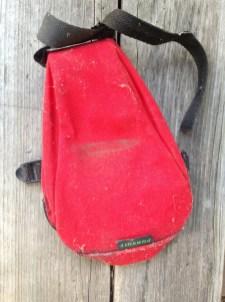 A bike seat bag. TRASH.