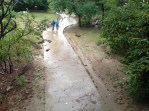 The path was completely under water.