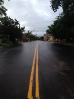 Deserted streets this morning.