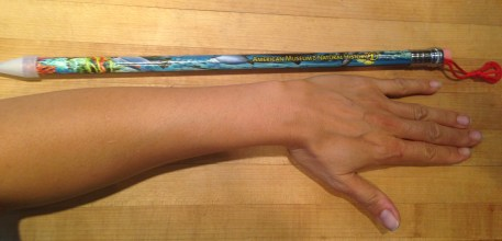 A novelty pencil as long as my forearm. From a place we've never been. TRASH.