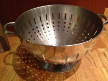 I found this deep in a cabinet. How many colanders does a person need? Two will be sufficient. DONATE