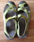 Lonny found these for me (used) because Keen is the only brand of sandal I can wear. DONATE