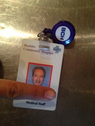 I don't know why we have a security badge for a hospital worker. TRASH.