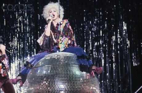 Madonna on Giant Disco Ball
