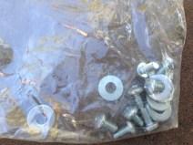Bag of screws and nuts.