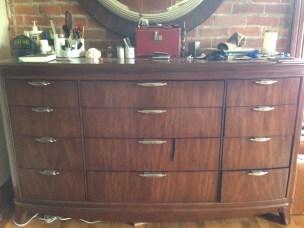 My dresser (bought at an estate sale, natch)