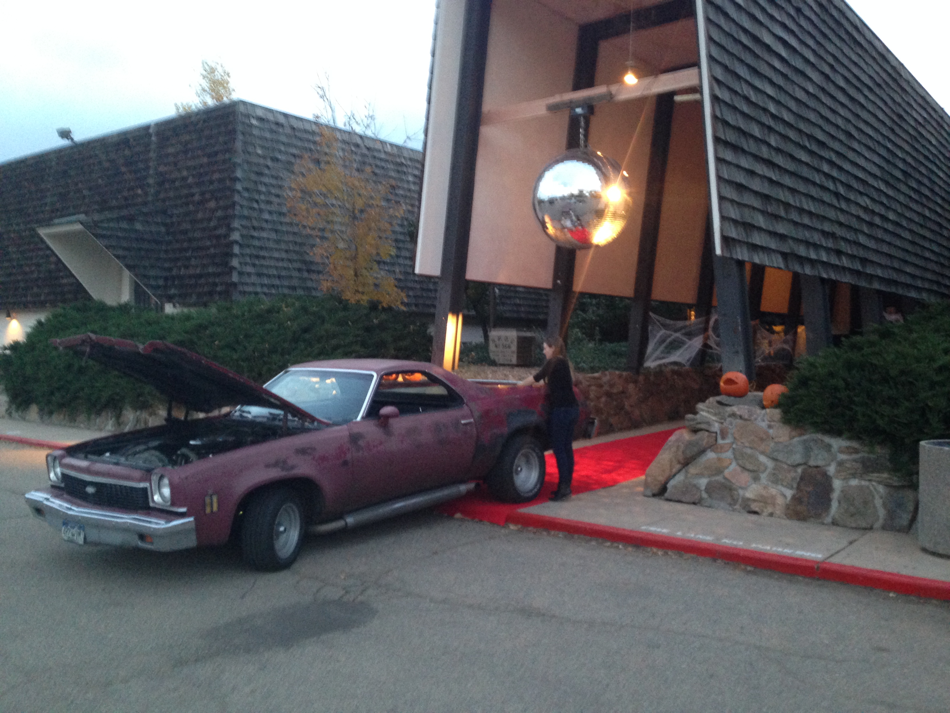 The El Camino parked in front! Party Time!
