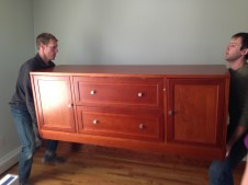 Moving furniture.
