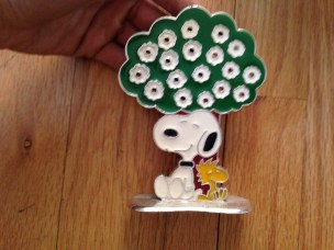 Vintage Snoopy earring tree. They sell for about $10 on eBay. Why not?