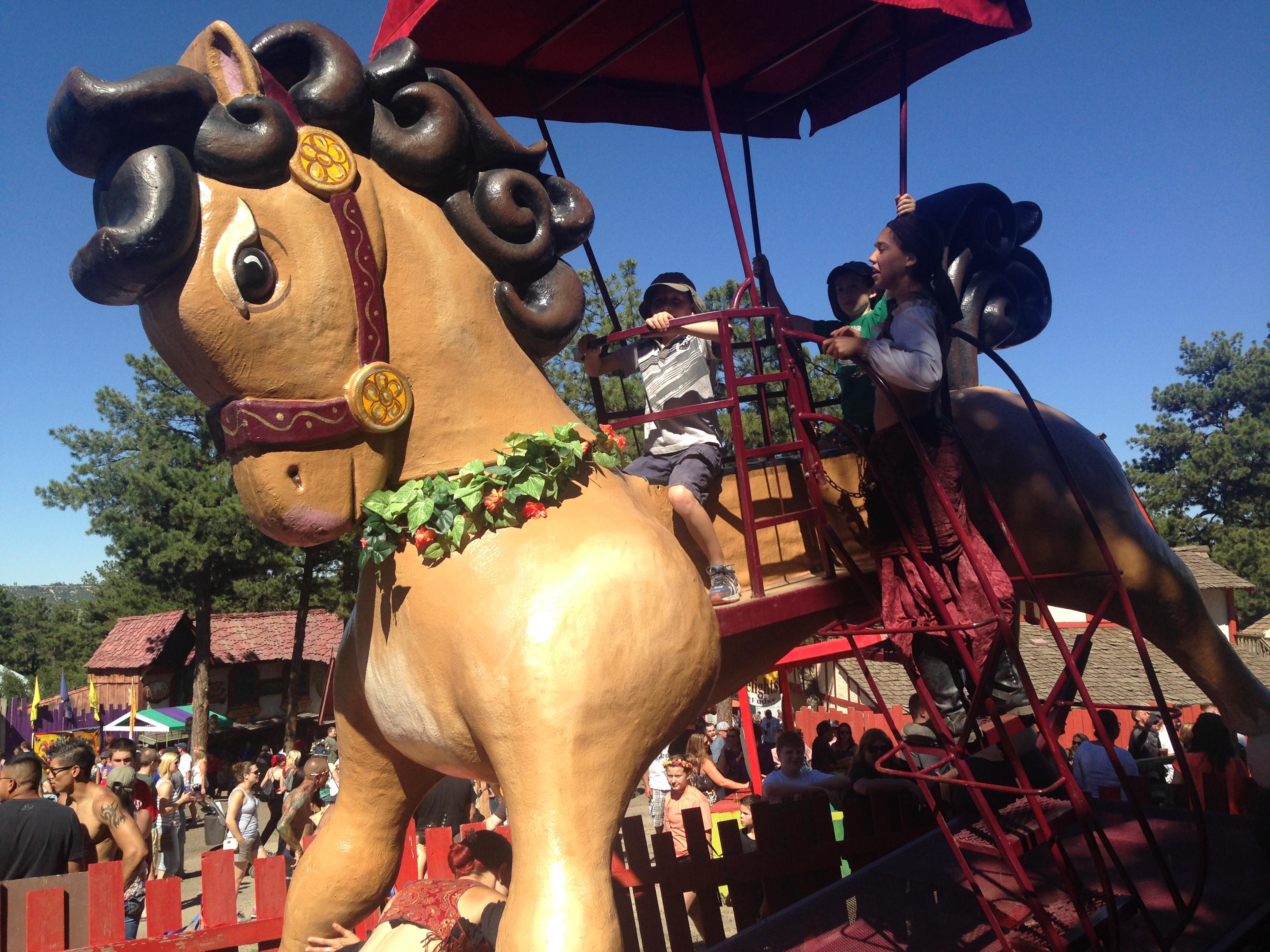 Giant rocking horse, $2