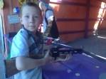 Firing a crossbow, $2