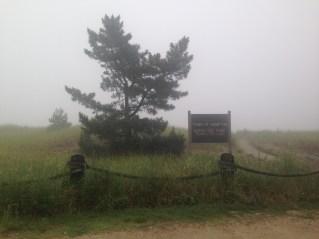 It was so foggy