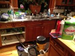 The condition of my kitchen at midnight, when Loony gave up