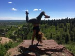 We held our breath as Julia hand standed on a cliff