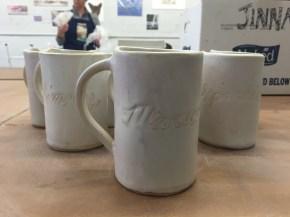 Mugs I made for Pole Theater