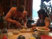 Mincing onions