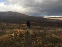 A muddy trek