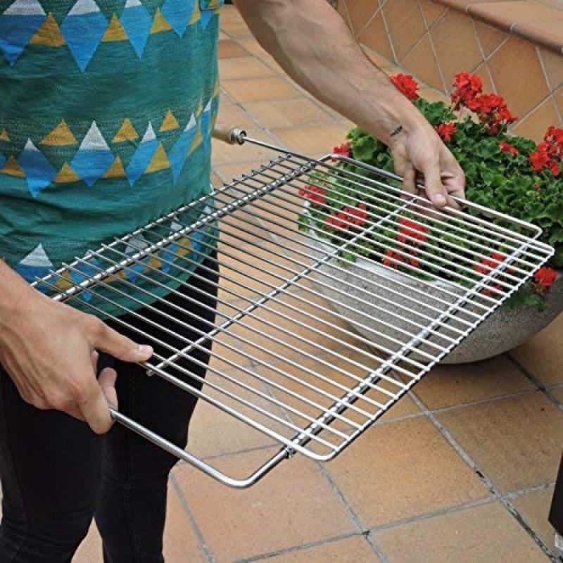 sauvic 02724 grille de barbecue universelle acier 60 70 x 40 cm largeur extensible de 62 a 72 cm