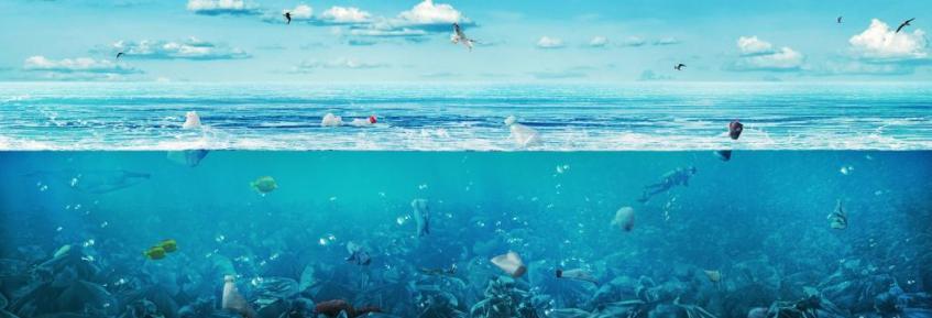 Océano Atlántico lleno de plástico