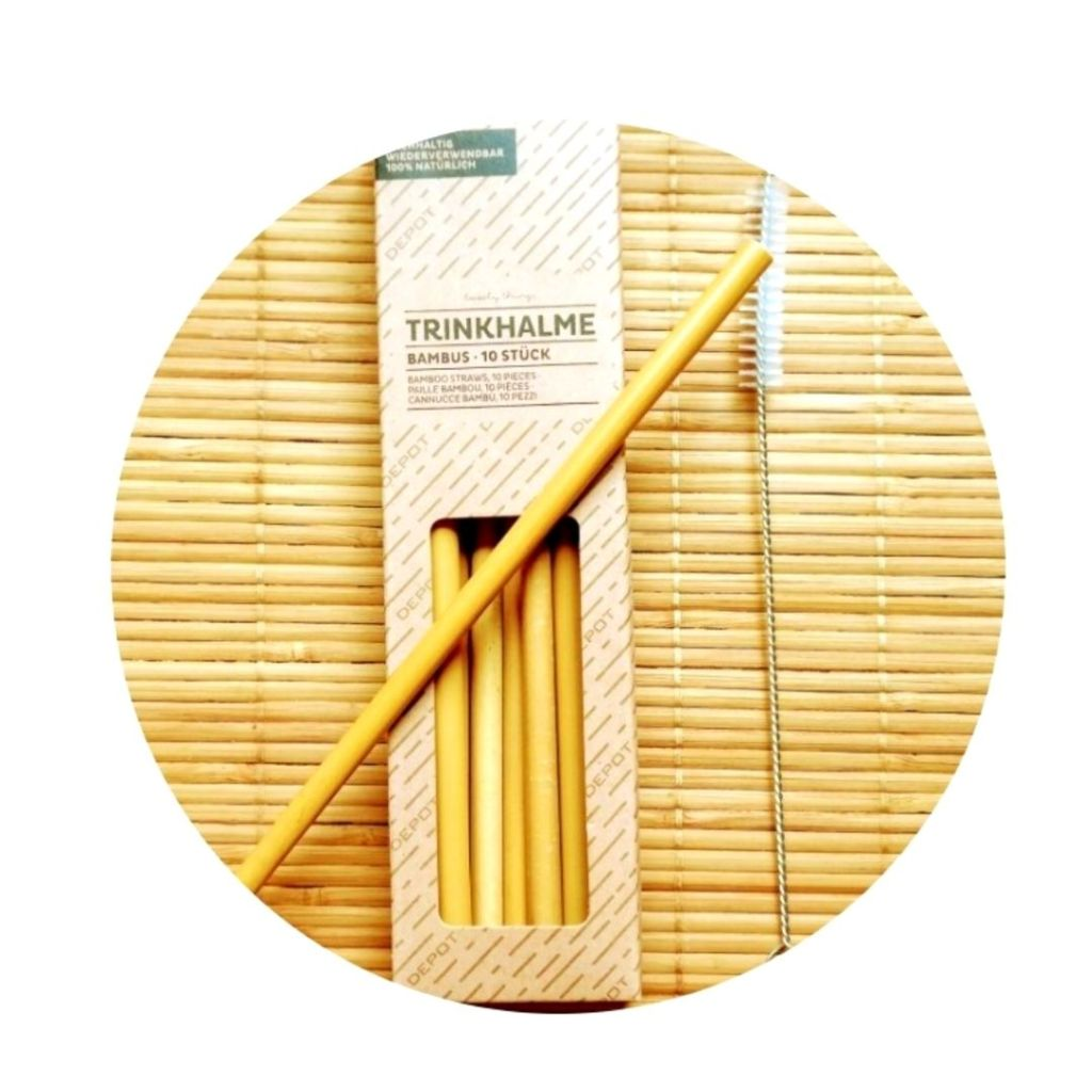 Pajitas Bambú Vive Green