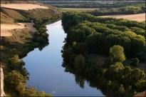 Cañon rio barranco cortado cabezon valladolid sol