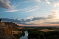 Cañon rio barranco cortado cabezon valladolid sol noche
