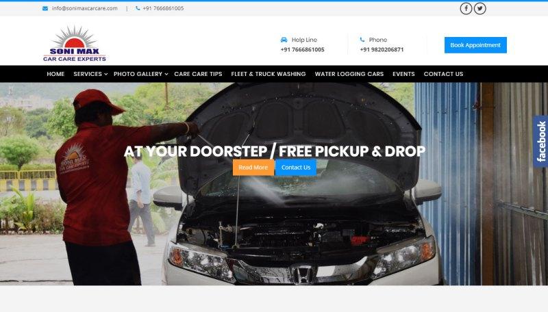 car wash website designs