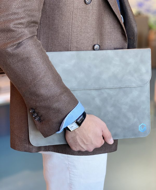 Vivegrace laptop sleeve grijs