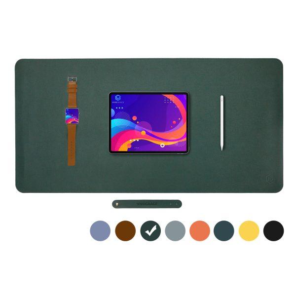 Vivegrace bureauonderlegger met tablet erop kleur groen