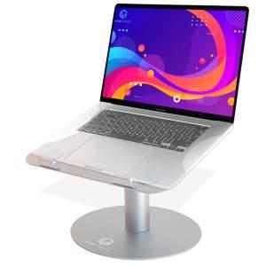 Vivegrace laptopstandaard 360º draaibaar met laptop kleur grijs
