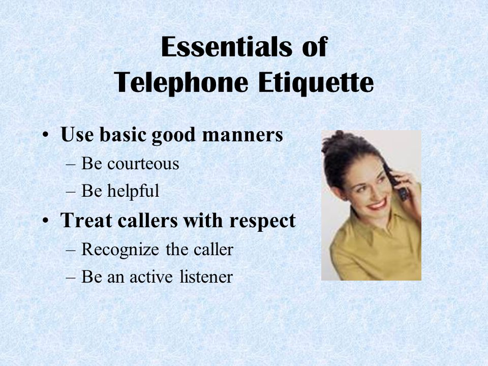 Answering business phone call etiquette dating 7