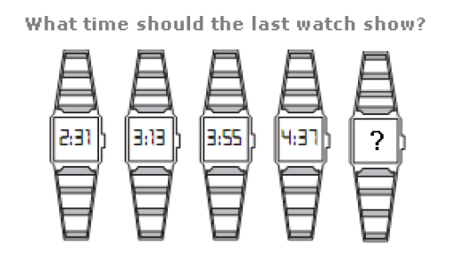 What time should the last watch show ?