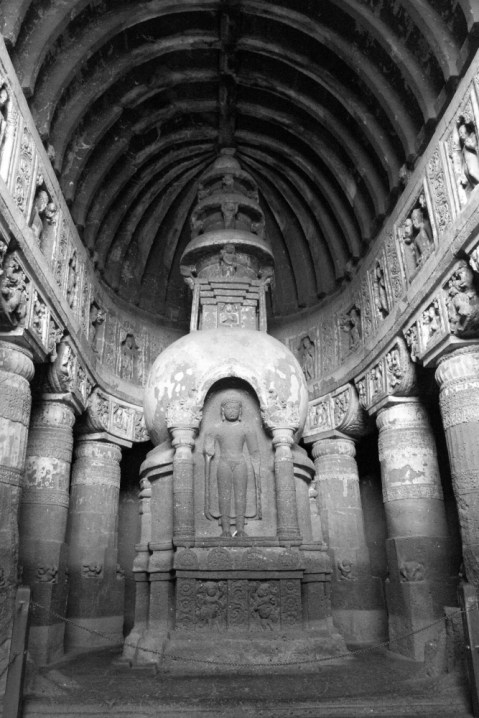 A chaitya hall of the late Mahayana period called as 'the sculptor's treasure chest'.