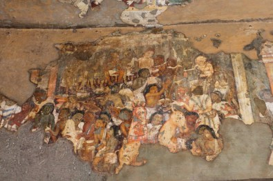 Murals narrate stories from famous Jataka Tales