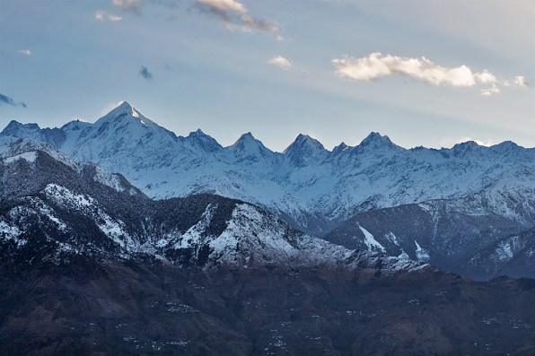 Majestic Panchchuli peaks named after Pandav brothers - Yudhisthir, Bheem, Arjun, Nakul and Sahadev