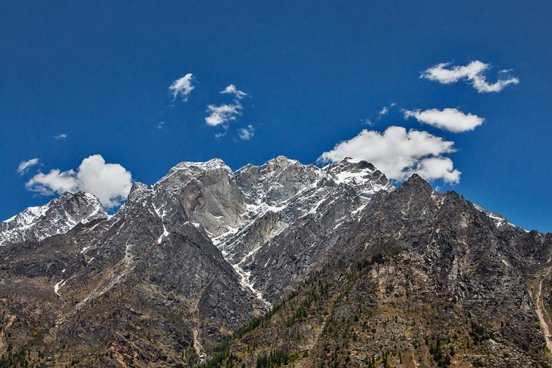 Kinner Kailash as seen from Sangla Valley