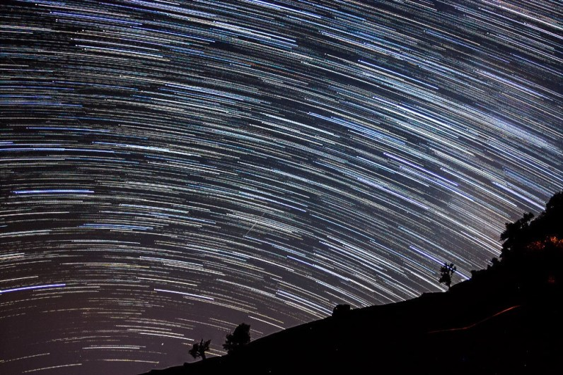 Startrails over South West Horizon