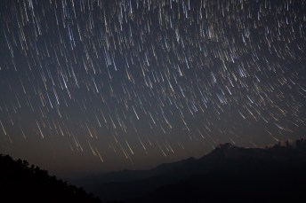 Startrails over Pindari range