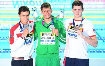 Gold for Grey Old Boy Zane Waddell at Fina World Championships