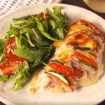 Poitrine de poulet primavera (farcie aux légumes)