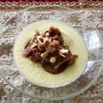 Crème de chou-fleur au fromage Le St-Charles et prosciutto