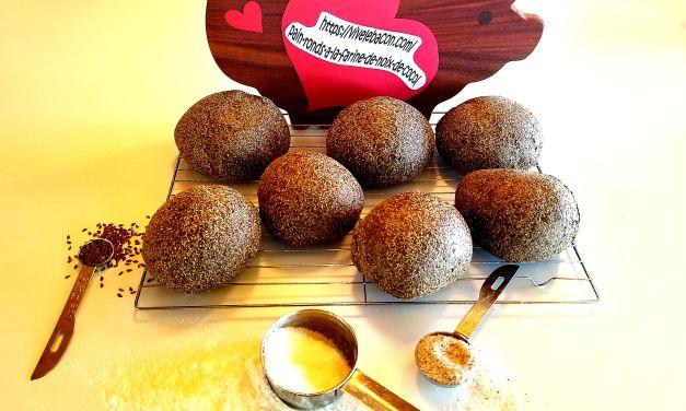 Pains ronds à la farine de noix de coco