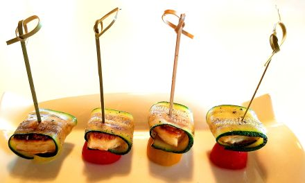 Petites brochettes d'Haloumi grillés