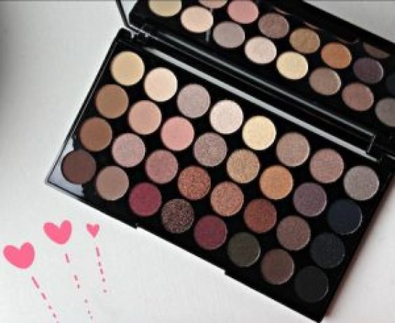 Ma Wish List de Noël avec la palette Makeup revolution.