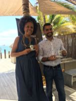 Dinita Crespo e Durvalino Ribeiro do Café del Mar