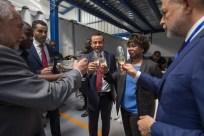 O brinde ao sucesso da nova fábrica IMEX
