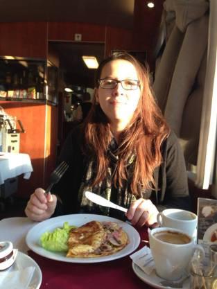 Café da manhã no trem...