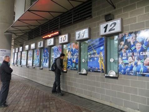 Guichê para compra de tickets no estádio Rogers Arena