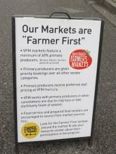 Descritivo da feira de produtores de Vancouver