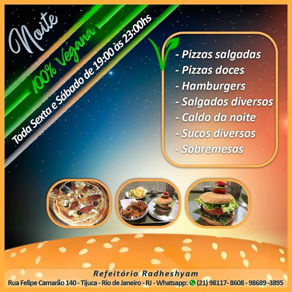 rhade shyam restaurante vegano vegetariano